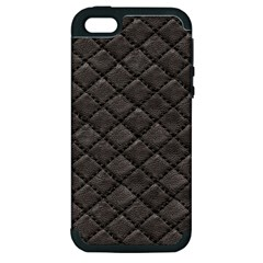 Seamless Leather Texture Pattern Apple Iphone 5 Hardshell Case (pc+silicone) by BangZart