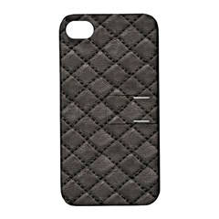 Seamless Leather Texture Pattern Apple Iphone 4/4s Hardshell Case With Stand by BangZart