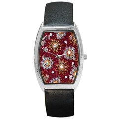 India Traditional Fabric Barrel Style Metal Watch by BangZart