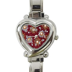 India Traditional Fabric Heart Italian Charm Watch by BangZart