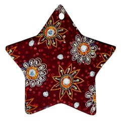 India Traditional Fabric Star Ornament (two Sides) by BangZart