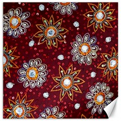 India Traditional Fabric Canvas 20  X 20