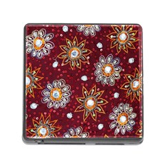 India Traditional Fabric Memory Card Reader (square)