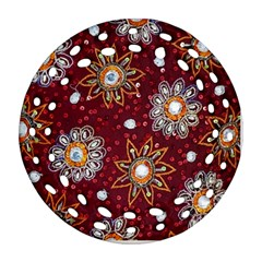 India Traditional Fabric Round Filigree Ornament (two Sides)