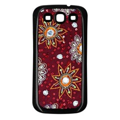 India Traditional Fabric Samsung Galaxy S3 Back Case (black) by BangZart