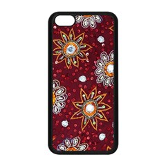 India Traditional Fabric Apple Iphone 5c Seamless Case (black)