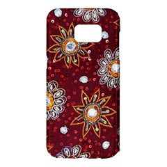India Traditional Fabric Samsung Galaxy S7 Edge Hardshell Case by BangZart