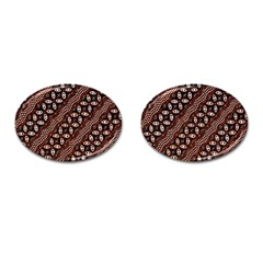 Art Traditional Batik Pattern Cufflinks (oval)