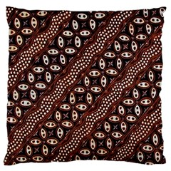Art Traditional Batik Pattern Large Cushion Case (two Sides) by BangZart