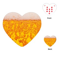 Beer Alcohol Drink Drinks Playing Cards (heart)  by BangZart
