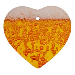 Beer Alcohol Drink Drinks Heart Ornament (two Sides) by BangZart