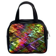 Technology Circuit Computer Classic Handbags (2 Sides) by BangZart