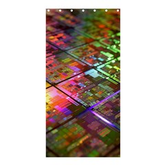 Technology Circuit Computer Shower Curtain 36  X 72  (stall)  by BangZart