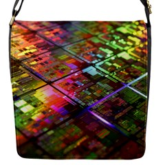 Technology Circuit Computer Flap Messenger Bag (s) by BangZart