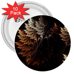 Fractalius Abstract Forests Fractal Fractals 3  Buttons (10 Pack)