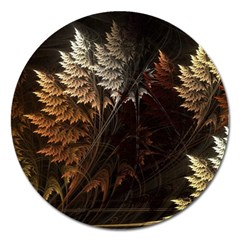 Fractalius Abstract Forests Fractal Fractals Magnet 5  (round)