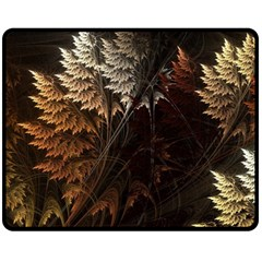 Fractalius Abstract Forests Fractal Fractals Double Sided Fleece Blanket (medium)  by BangZart