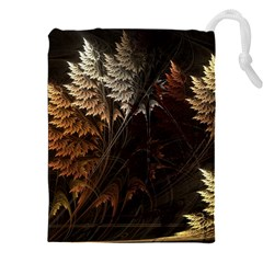 Fractalius Abstract Forests Fractal Fractals Drawstring Pouches (xxl) by BangZart