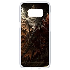 Fractalius Abstract Forests Fractal Fractals Samsung Galaxy S8 White Seamless Case