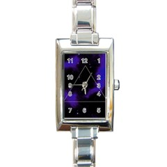 Space Rectangle Italian Charm Watch by Valentinaart