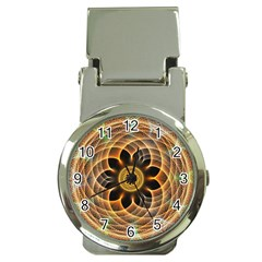 Mixed Chaos Flower Colorful Fractal Money Clip Watches