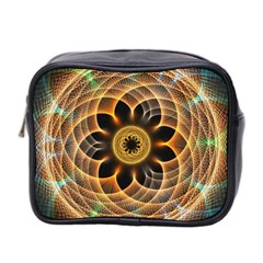 Mixed Chaos Flower Colorful Fractal Mini Toiletries Bag 2 Side by BangZart