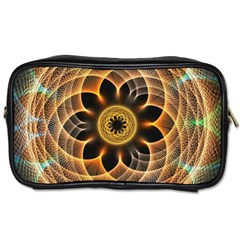 Mixed Chaos Flower Colorful Fractal Toiletries Bags 2 Side by BangZart