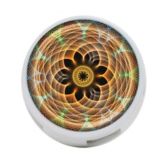Mixed Chaos Flower Colorful Fractal 4 Port Usb Hub (two Sides)