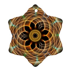 Mixed Chaos Flower Colorful Fractal Snowflake Ornament (two Sides)