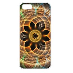 Mixed Chaos Flower Colorful Fractal Apple Iphone 5 Seamless Case (white) by BangZart