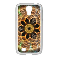 Mixed Chaos Flower Colorful Fractal Samsung Galaxy S4 I9500/ I9505 Case (white)