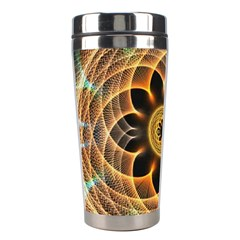 Mixed Chaos Flower Colorful Fractal Stainless Steel Travel Tumblers by BangZart