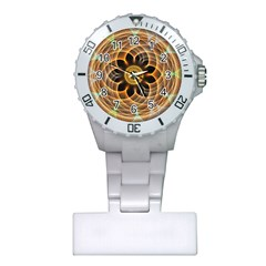 Mixed Chaos Flower Colorful Fractal Plastic Nurses Watch