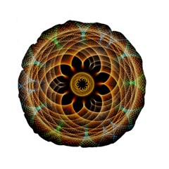 Mixed Chaos Flower Colorful Fractal Standard 15  Premium Flano Round Cushions by BangZart