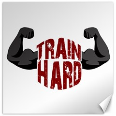 Train Hard Canvas 20  X 20   by Valentinaart