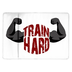 Train Hard Samsung Galaxy Tab 10 1  P7500 Flip Case