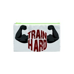 Train Hard Cosmetic Bag (xs) by Valentinaart