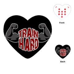 Train Hard Playing Cards (heart)  by Valentinaart