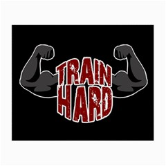 Train Hard Small Glasses Cloth (2 Side) by Valentinaart
