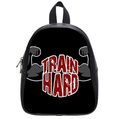 Train Hard School Bags (small)  by Valentinaart
