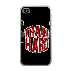 Train Hard Apple Iphone 4 Case (clear) by Valentinaart