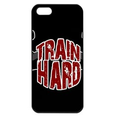 Train Hard Apple Iphone 5 Seamless Case (black) by Valentinaart