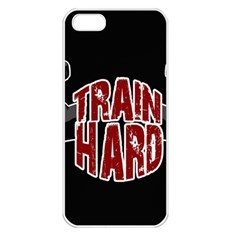 Train Hard Apple Iphone 5 Seamless Case (white) by Valentinaart