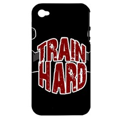 Train Hard Apple Iphone 4/4s Hardshell Case (pc+silicone) by Valentinaart