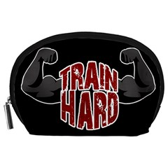 Train Hard Accessory Pouches (large)  by Valentinaart