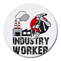 Industry Worker  Round Mousepads by Valentinaart