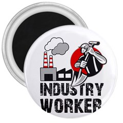 Industry Worker  3  Magnets by Valentinaart