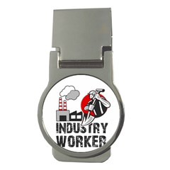 Industry Worker  Money Clips (round)  by Valentinaart