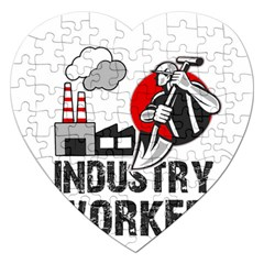 Industry Worker  Jigsaw Puzzle (heart) by Valentinaart