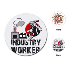 Industry Worker  Playing Cards (round)  by Valentinaart